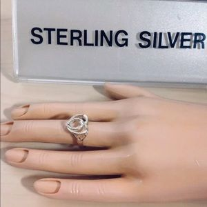 sterling silver initial (o) ring 2-sizes